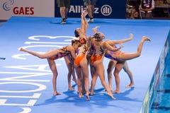 Synchronized swimming - Italy Royalty Free Stock Photo