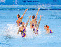 Synchronized swimming - Italy Royalty Free Stock Image