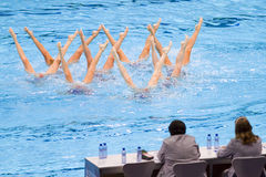 Synchronized swimming - Italy Royalty Free Stock Photos