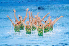 Synchronized swimming - Japan Royalty Free Stock Image