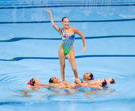 Synchronized swimming - Kazakhstan Royalty Free Stock Photo