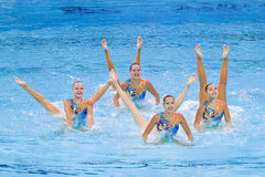 Synchronized swimming - Kazakhstan Stock Photography