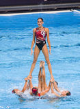Synchronized swimming - Mexico Royalty Free Stock Photo