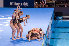 Synchronized swimming - Russia Royalty Free Stock Photography