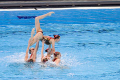 Synchronized swimming - Russia Royalty Free Stock Images