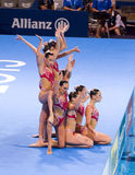 Synchronized swimming - Spain Royalty Free Stock Images
