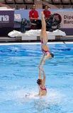 Synchronized swimming - Spain Royalty Free Stock Photo
