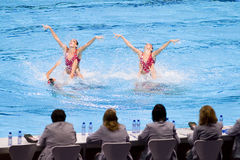 Synchronized swimming - Spain Royalty Free Stock Image