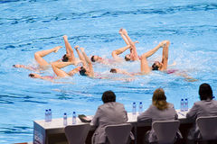 Synchronized swimming - Spain Stock Image
