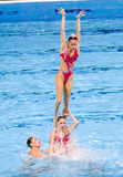 Synchronized swimming - Spain. Spanish team performs at Synchronized swimming Free Routine Final of 15th FINA World Championships, on July 26, 2013, in Barcelona Royalty Free Stock Image