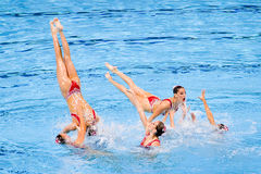 Synchronized swimming - Spain Royalty Free Stock Photo