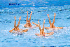 Synchronized swimming - Spain Stock Photography