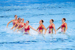 Synchronized swimming - Spain Stock Images