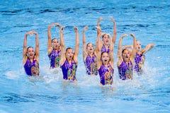 Synchronized swimming - Switzerland Royalty Free Stock Images