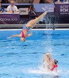 Synchronized swimming - Ukraine Stock Photography