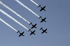 Synchronized team flight III Royalty Free Stock Photo