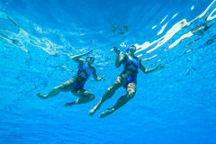 Synchronized Team Swimming Girls Royalty Free Stock Photo