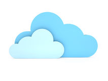 Synchronizing with Clouds Royalty Free Stock Images