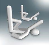 Synchronizujący Pływacki 3D symbol, Olimpijscy sporty Fotografia Royalty Free