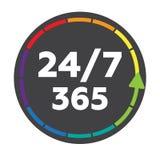 24 synchronizują odznaka symbolu Fotografia Stock