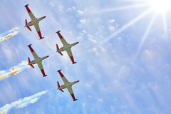 Synchronous Flight Stock Image