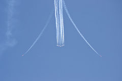 Synchronous planes Royalty Free Stock Images