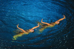 Synchronous swiming Royalty Free Stock Photo