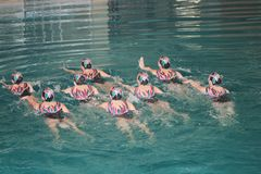 Synchronous Swimming Stock Image