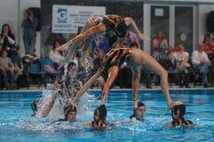 Synchronschwimmenausstellung 012 Lizenzfreies Stockbild