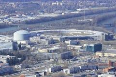 Synchrotron in Grenoble. European synchrotron radiation facility in Grenoble Stock Image