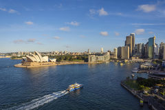 Syndey downtown, opera house and circular quay Stock Image