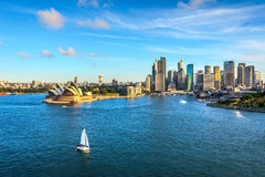 Syndey downtown, opera house and circular quay Royalty Free Stock Photography