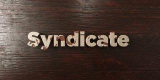 Syndicat - titre en bois sale sur l'érable - image courante gratuite de redevance rendue par 3D Photo stock