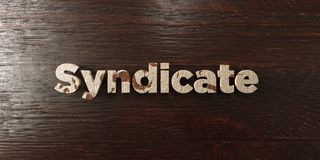Syndicate - grungy wooden headline on Maple  - 3D rendered royalty free stock image. This image can be used for an online website banner ad or a print postcard Stock Photo