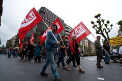 Syndicate union basque manifestation Royalty Free Stock Images
