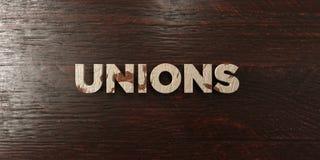 Syndicats - titre en bois sale sur l'érable - image courante gratuite de redevance rendue par 3D illustration de vecteur