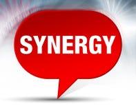 Synergie-roter Blasen-Hintergrund stock abbildung