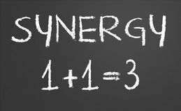 Synergiego pojęcie Zdjęcie Royalty Free