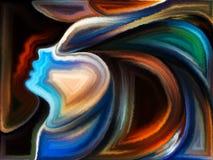 Synergien des Geistes Stockbild
