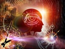 Synergien des Menschenverstandes Stockfotos