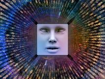 Synergien des Supermenschen AI Stockfoto