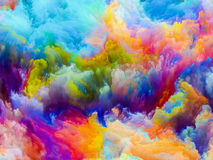 Synergien von Farben Stockfotografie