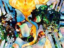 Synergier av färguppdelning royaltyfri illustrationer