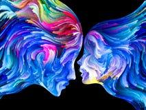 Synergier av passion vektor illustrationer