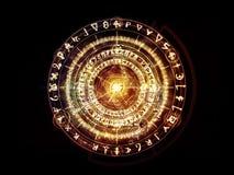 Synergier av sakral geometri royaltyfria foton