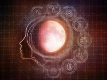 Synergies de la lune Image libre de droits