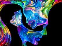 Synergies de passion illustration libre de droits