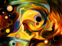 Synergies de peinture intérieure Image libre de droits