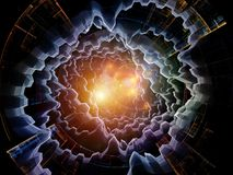 Synergies of Radial Fractal Texture Royalty Free Stock Photos