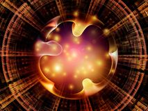 Synergies of Radial Fractal Texture Royalty Free Stock Images